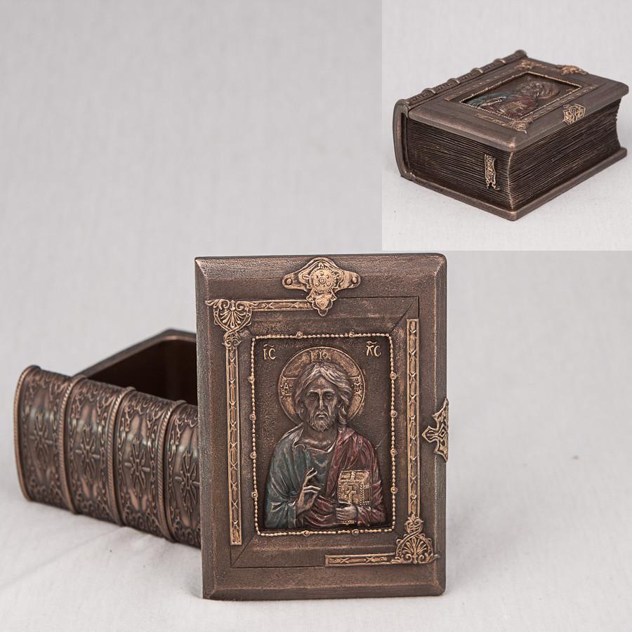 Шкатулка книга Veronese Святой 12 см 75894