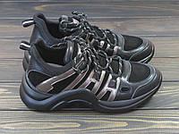 Черные стильные женские кроссовки Lonza, фото 1