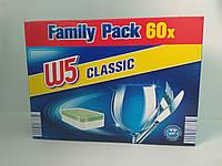 Таблетки для посудомоечной машины W 5 Классик 60 шт. W5 Classic таблетки для посудомийної машини 60 шт