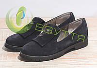 Туфли замшевые женские Salina 0515 син/з 36-41 размеры, фото 1