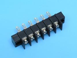 TG54-6BG Клеммник 6 контактов на блок, позолоченный, 300В 10А шаг 7,62мм