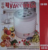 Электрическая сушилка для фруктов и овощей Чудесница , мощностью 520 Вт