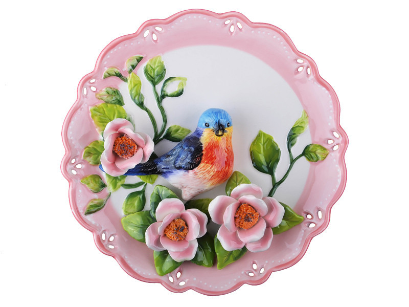 Тарелка декоративная Соловей 20 см 59-171