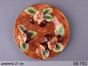 Декоративная тарелка Грибная поляна 21 см 58-763