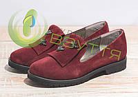 Туфли замшевые женские Salina 0515 бор 37-40 размеры, фото 1
