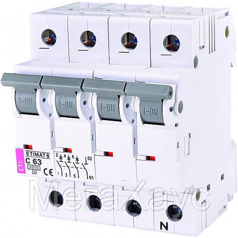 Автоматический  выключатель ETIMAT 6  3p+N C 63А (6 kA), фото 2
