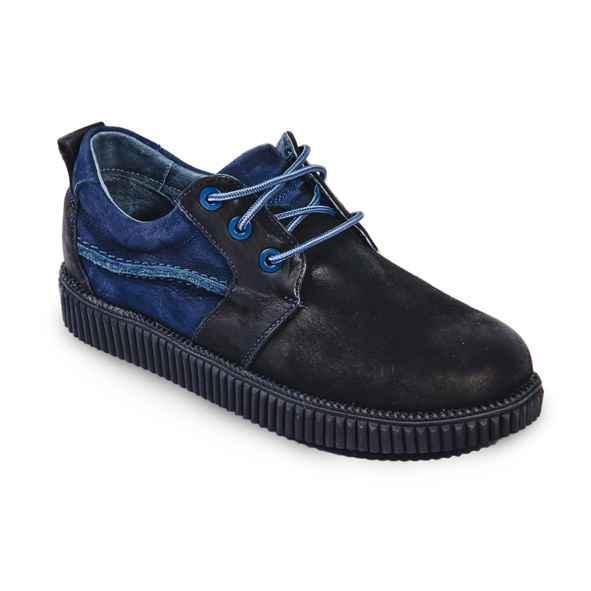 Стильные кожаные туфли на шнуровке для мальчика Bistfor 35 размер