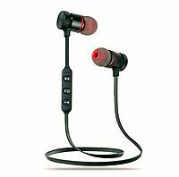 Беспроводные вакуумные наушники-гарнитура bluetoothс микрофоном с магнитной фиксацией Черные