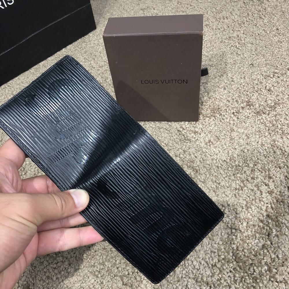 Зажим для денег Louis Vuitton x Supreme Slender мужской кошелек луи витон  черный реплика - Tali ccb8d620f3b