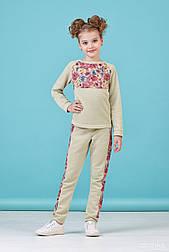 Спортивный костюм для девочки с цветочным принтом