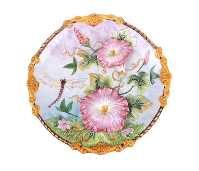 Декоративная тарелка Стрекоза 20 см 59-565