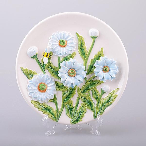 Декоративная тарелка Георгины 20 см 59-588