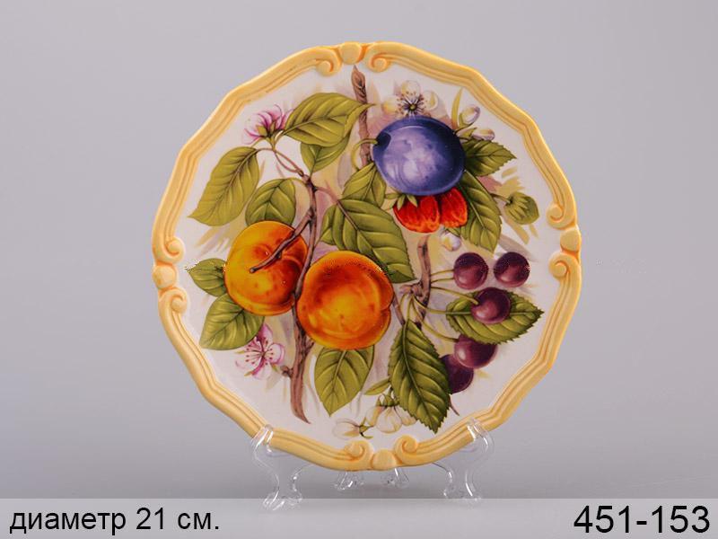 Декоративная тарелка Персики 21 см 451-153