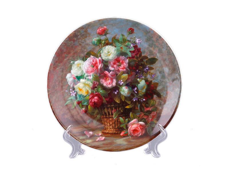Декоративная тарелка Adekor Цветы 19 см 662-574