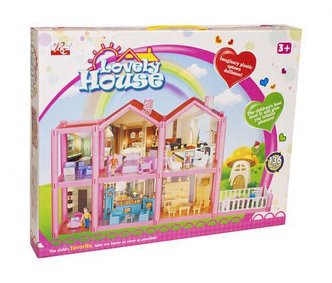"""Кукольный дом """"Lovely House"""" (136 деталей)"""
