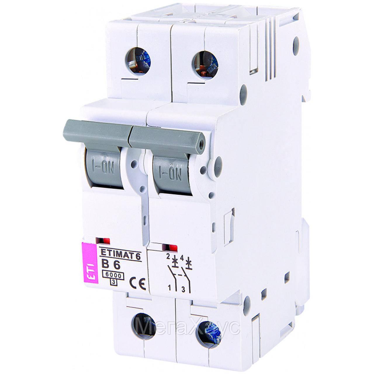 Автоматический выключатель ETIMAT 6 2p В 6А (6 kA)