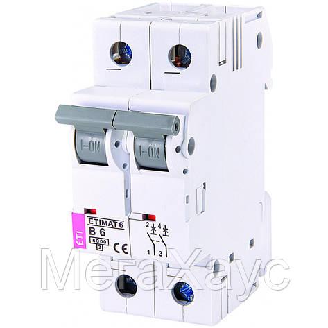 Автоматический выключатель ETIMAT 6 2p В 6А (6 kA), фото 2