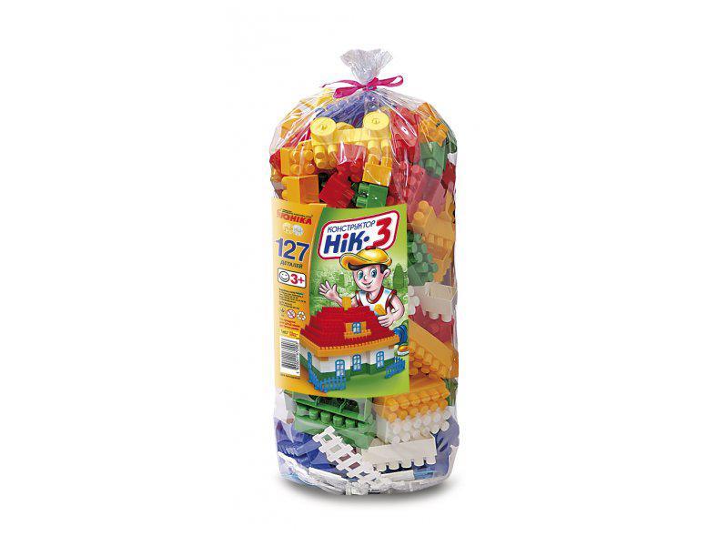"""Конструктор """"НІК-3"""" 127 елементів, в кульку, 0903 Юніка"""