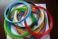 PLA пластик 10 цветов по 5м для 3Д ручек (ПЛА пластик, нить)