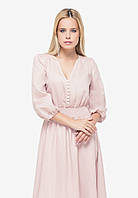 Льняное платье цвета пыльной розы, фото 1