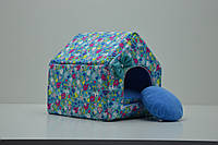 Домик для собак и котов Звездочка бирюзовый