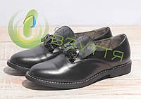 Туфли кожаные женские Salina 858 ч\к 36-41 размеры, фото 1
