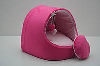 Будка для собак и котов Плюш розовая