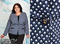 Пиджак женский на подкладке размеры 50.52.54.56.58, фото 1