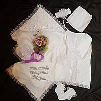 Комплект для крестин девочке Ангел 2 5 предметов, фото 1