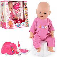 Кукла пупс закрывает глаза, пьет, писает, ест, плачет, двигает ручками и ножками, разные цвета одежды