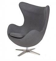 Кресло Эгг ткань серая (СДМ мебель-ТМ)