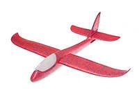 Планер самолет трюкач метательный BT-FP-0002 ручной запуск, свет