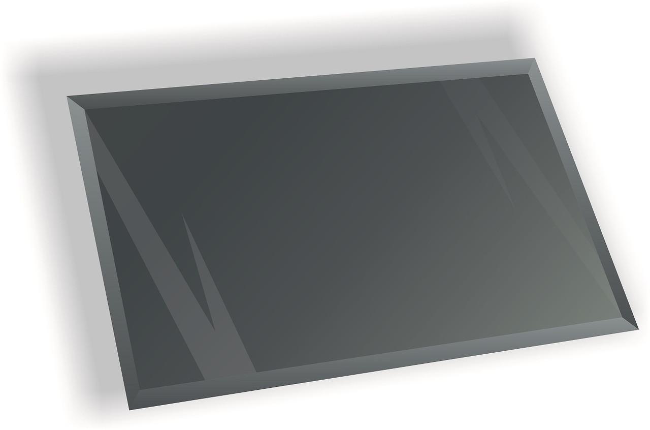 Зеркальная плитка НСК прямоугольник 350х550 мм фацет 15 мм графит, фото 1