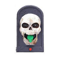 """Звонок в дверь """"Череп и змея"""", декор на Хэллоуин 20 см"""