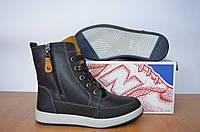 Зимние кожаные ботинки Ecco.