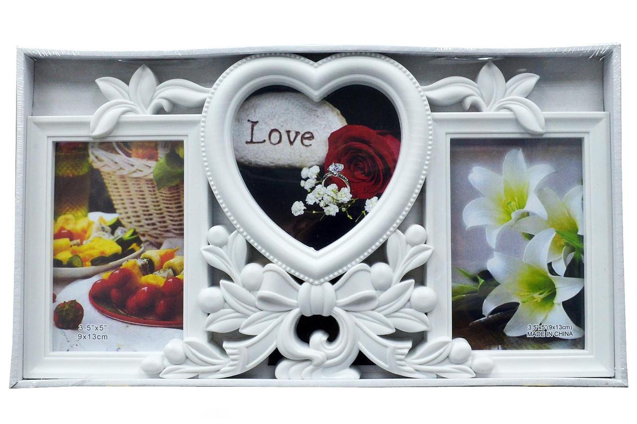 """Мультирамка - колаж із пластику """"LOVE"""" (рамка для фотографій на стіну)"""