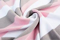 Плед вязаный Малыш полоса розовая+шапочка, фото 1