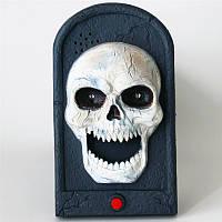 """Звонок в дверь """"Череп"""", декор на Хэллоуин 20 см"""