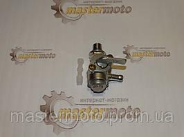 Кран топливный для бензогенератора правый с отстойником, М10