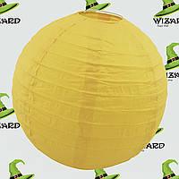 Декор подвесной Шар (35см) желтый, фото 1