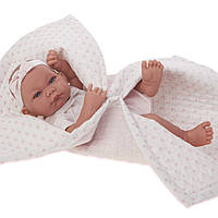 Кукла младенец Nica 42 см в розовом одеяльце Antonio Juan 5018