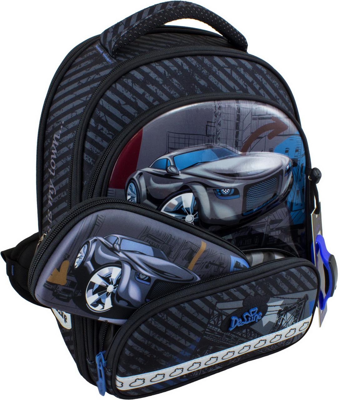 Новейший каркасный ранец для школьников. В подарок мешок для обуви, пенал и часы. Доставка бесплатно.