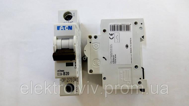 Автоматический выключатель Eaton CLS6-B20-DP, фото 2