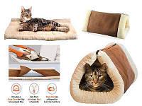 Домик-лежанка 2 в 1 для собак и кошек Kitty Shack цвета  микс