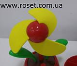 Настільний портативний USB вентилятор «Квітка», жовтий, фото 3