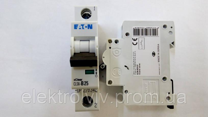 Автоматический выключатель Eaton CLS6-B25-DP