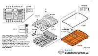 Днище короба аккумуляторной батареи Nissan Leaf ZE0 / AZE0 (10-17) 74410-3NA0B