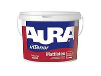 Aura Mattlatex 5 л, белая - Матовая краска водно-дисперсионная моющаяся  для потолков и стен, тонируется