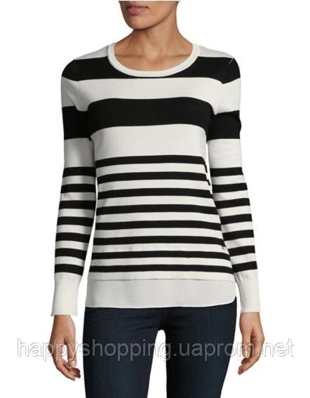Женская черно-белая кофта в полоску Calvin Klein