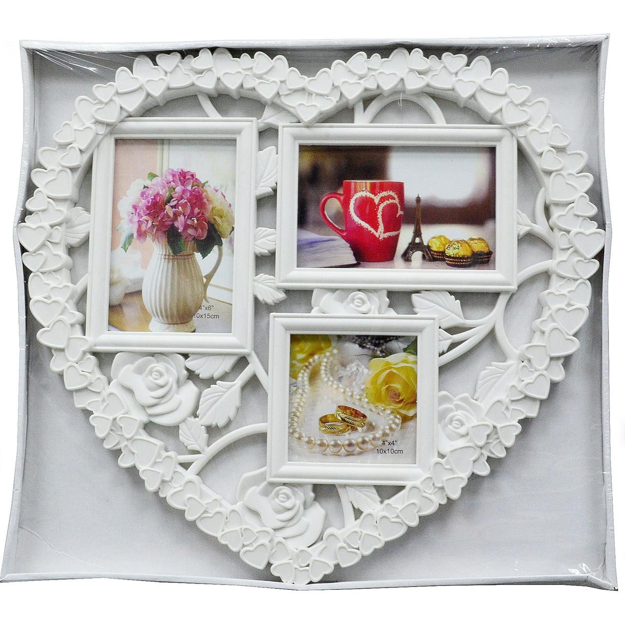 "Копия Мультирамка пластиковая ""LOVE""  на 3 фото,  (рамка для фотографий на стену)"